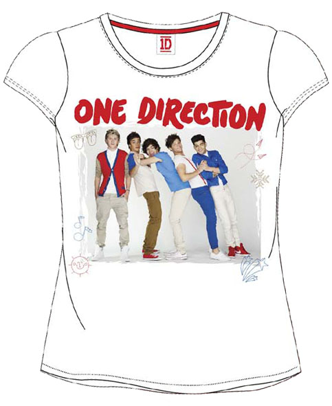 CAMISETA ONE DIRECTION BCO