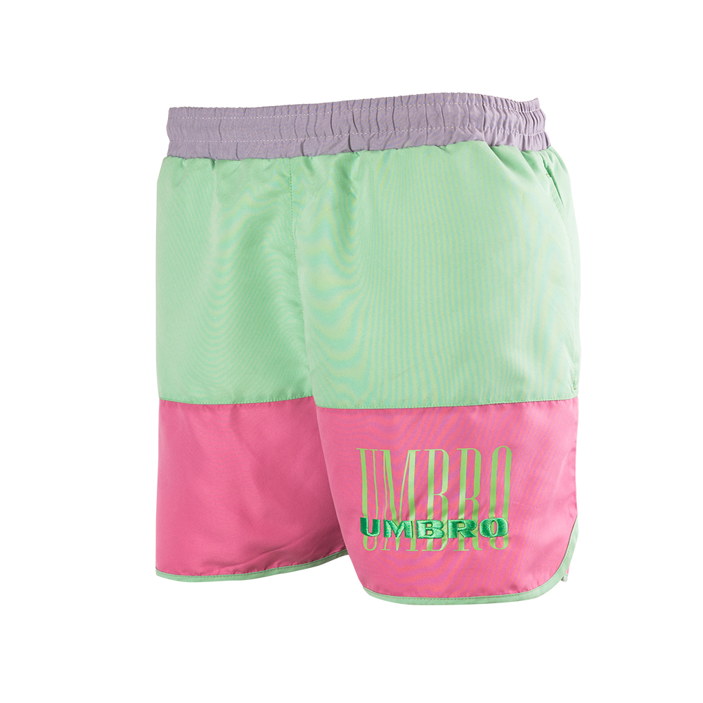 ETHOS SWIM SHORT ASH GREY / CASSIS / AQUA MINT