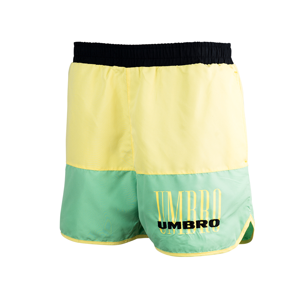 C10007-JJU-ETHOS SWIM SHORT BLACK / SOFT YELLOW / AQUA MINT